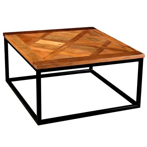 acheter table basse carre bois