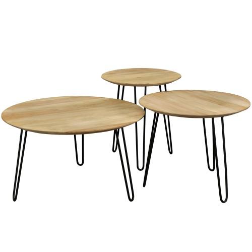 acheter table basse gigogne bois clair