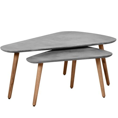 acheter table basse ovale gigogne