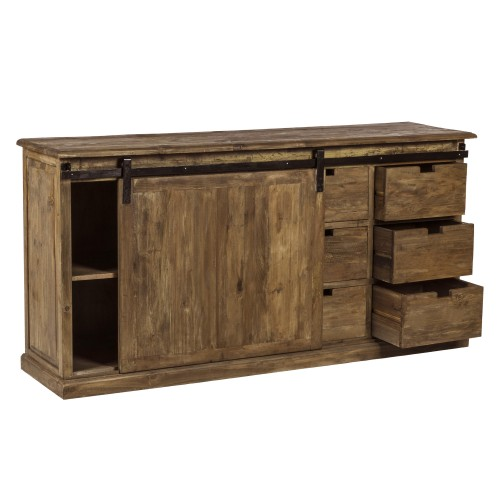 buffet sari 6 tiroirs et porte coulissante achetez les buffets sari 6 tiroirs et porte. Black Bedroom Furniture Sets. Home Design Ideas