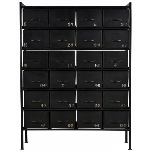 buffet tiroirs noir