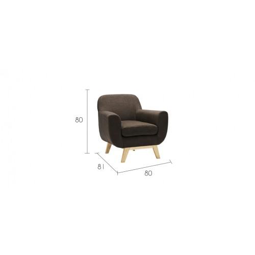 fauteuil copenhague marron achetez nos fauteuils copenhague marron design rdv d co. Black Bedroom Furniture Sets. Home Design Ideas
