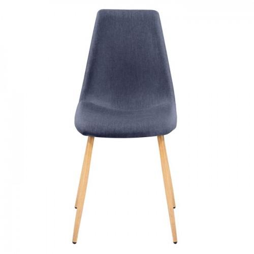 lot de 2 chaises scandinaves bleu et bois - Chaises Scandinaves Bleu
