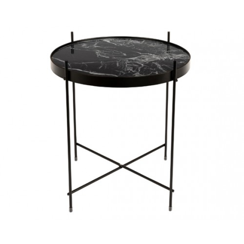 table basse marble cupid noire