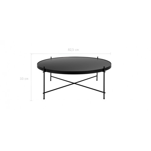 table basse ronde valdo noire l choisissez nos tables. Black Bedroom Furniture Sets. Home Design Ideas