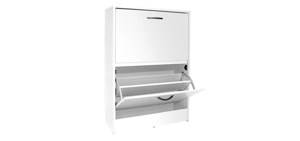 promotion 57 meuble chaussures blanc 2 tiroirs ancien prix 209. Black Bedroom Furniture Sets. Home Design Ideas