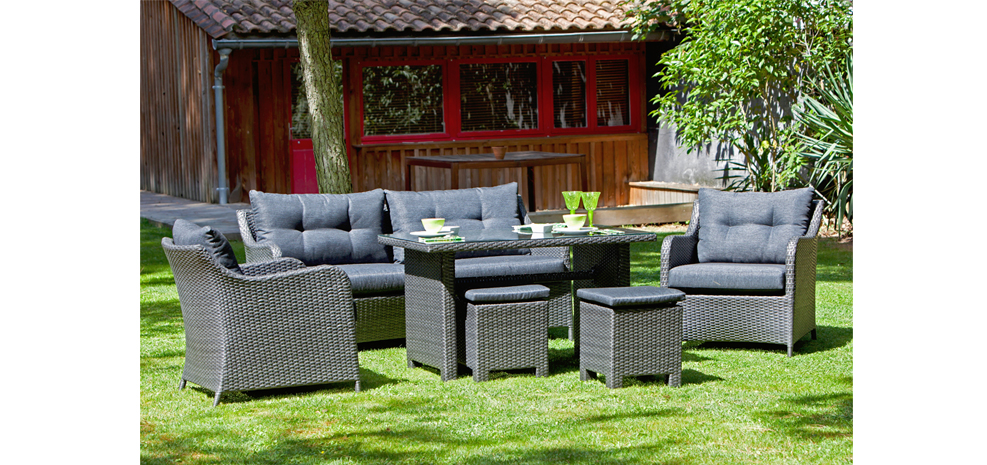 126 salon de jardin soldes destockage salon de jardin repas madison 4 couverts roland salon. Black Bedroom Furniture Sets. Home Design Ideas