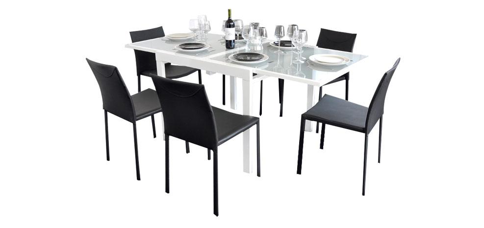 Prix des meuble salle manger 154 - Table carree extensible blanche ...
