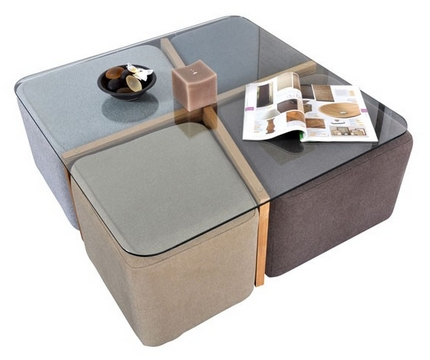 Blog vente priv e num ro 45 la table basse terra 4 poufs - Vente privee table basse ...