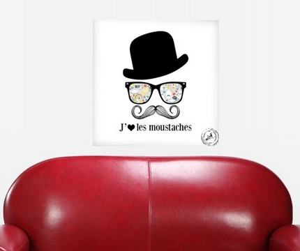 Blog vente priv e num ro 44 les tableaux moustache - Tableau chapeau melon pomme verte ...