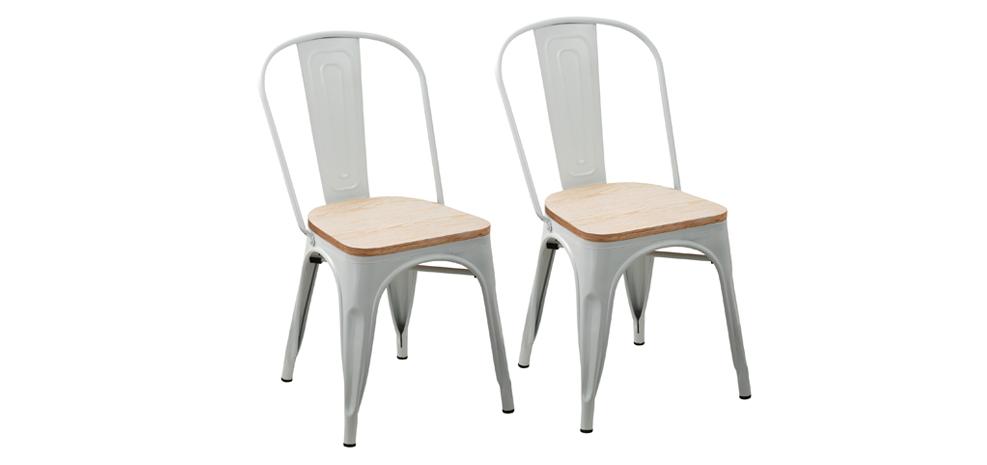 chaise de cuisine blanche pas cher elegant table et. Black Bedroom Furniture Sets. Home Design Ideas