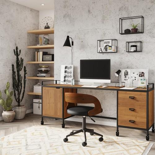 Grand bureau en bois recyclé Môme