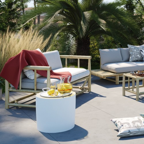 Canapé de jardin 2 places Tika
