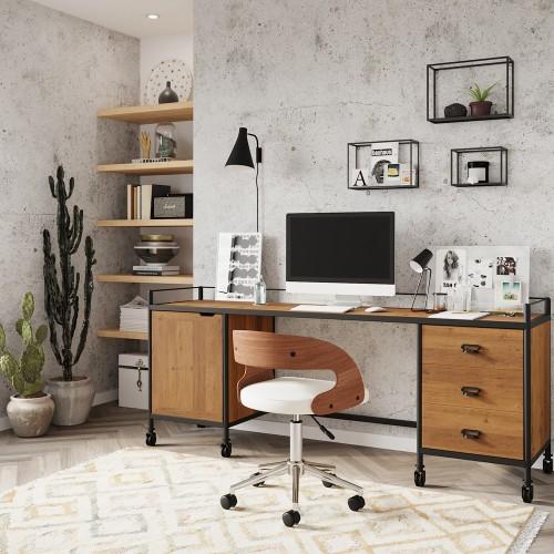 Chaise de bureau blanche Louis