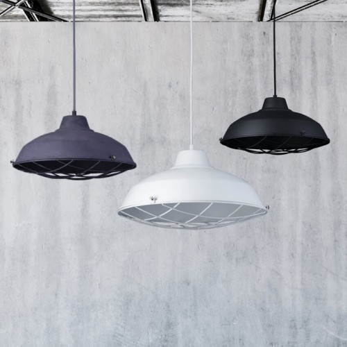 Suspension Loft en métal gris ∅ 37cm