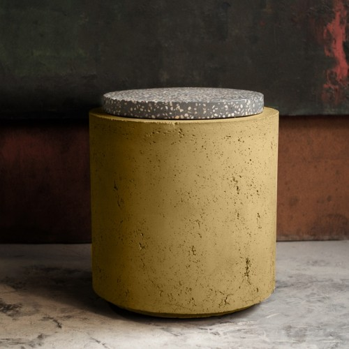 Table d'appoint Poppy en terrazzo/béton ∅ 42 cm