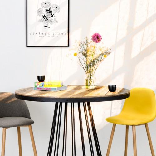 Chaise de bar Fredrik jaune 72.5 cm (lot de 2)