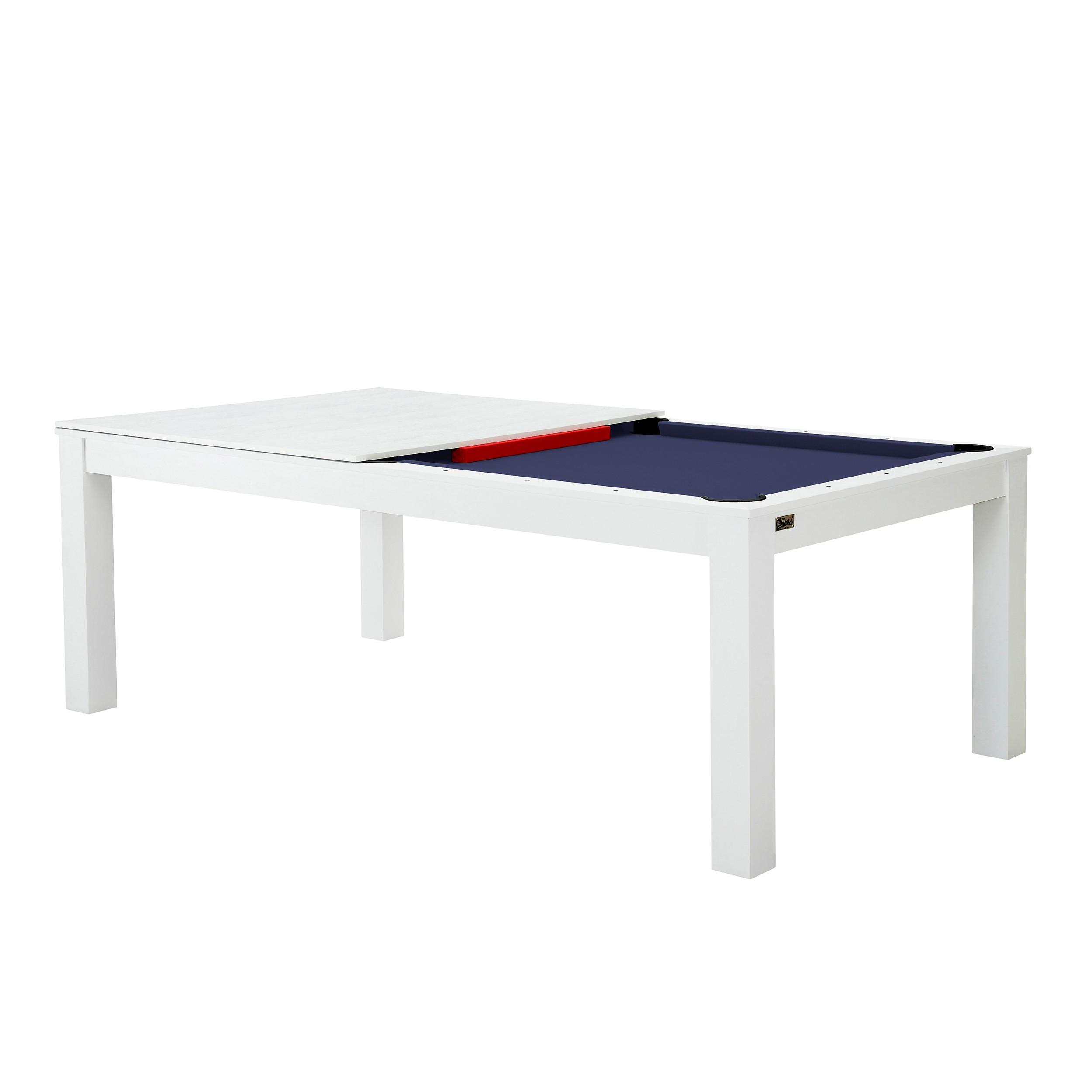 billard table convertible blanc tapis bleu testez nos billards tables convertibles blancs. Black Bedroom Furniture Sets. Home Design Ideas