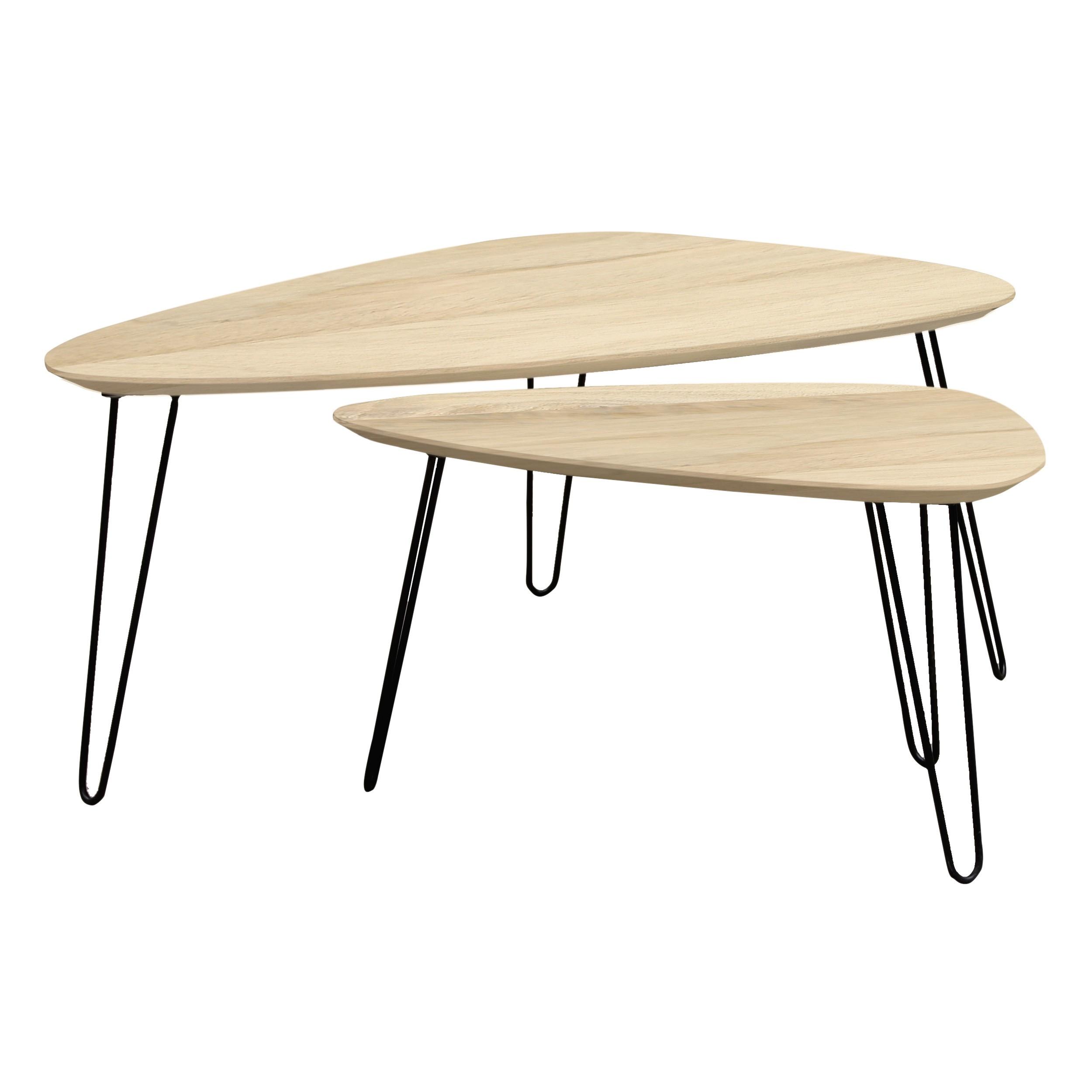 tables basses gigognes scandinaves riga lot de 2 achetez les tables basses gigognes. Black Bedroom Furniture Sets. Home Design Ideas