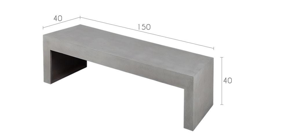 banc b ton int rieur commandez nos bancs en b ton pour le salon rdvd co. Black Bedroom Furniture Sets. Home Design Ideas