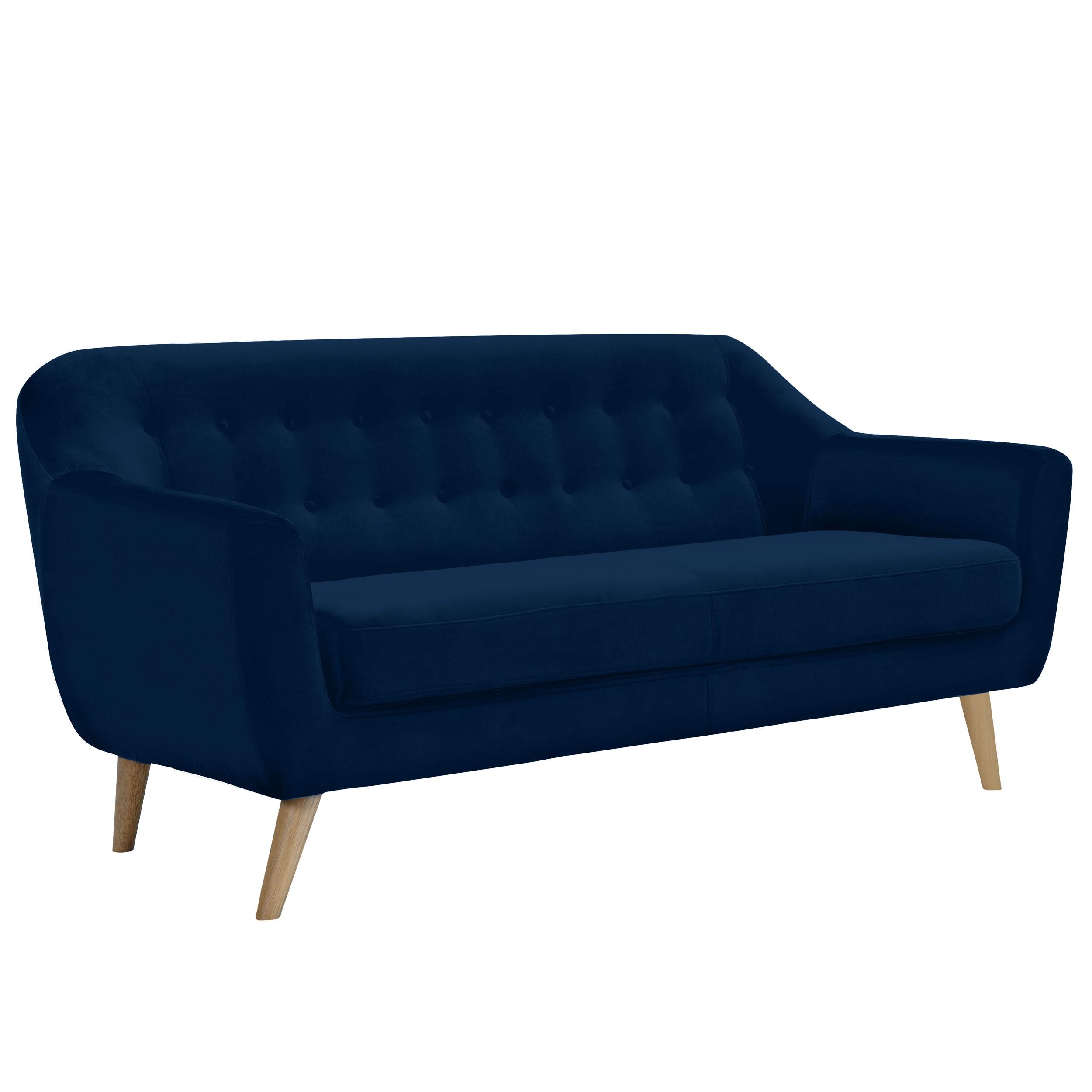 canap rio 3 places en velours bleu fonc commandez nos canap s rio 3 places en velours bleu. Black Bedroom Furniture Sets. Home Design Ideas