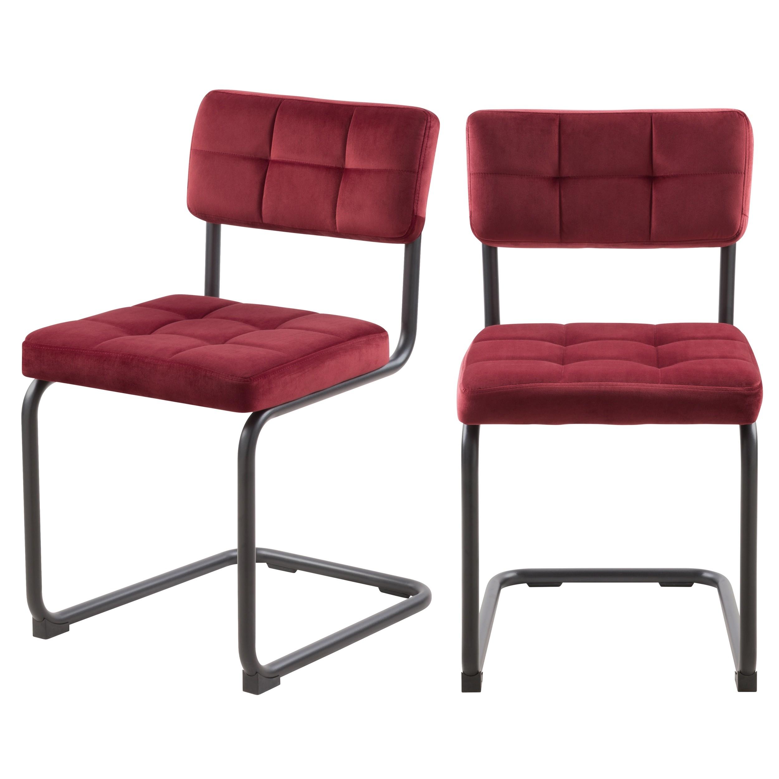 achat chaise bordeaux lot de 2 confort
