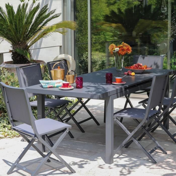 achat chaise confortable exterieur grise