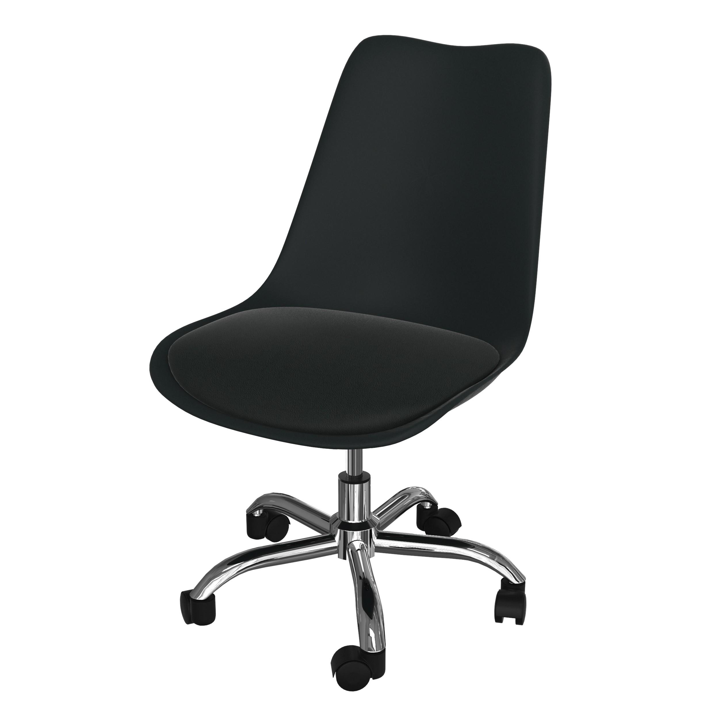 achat chaise de bureau scandinave noire