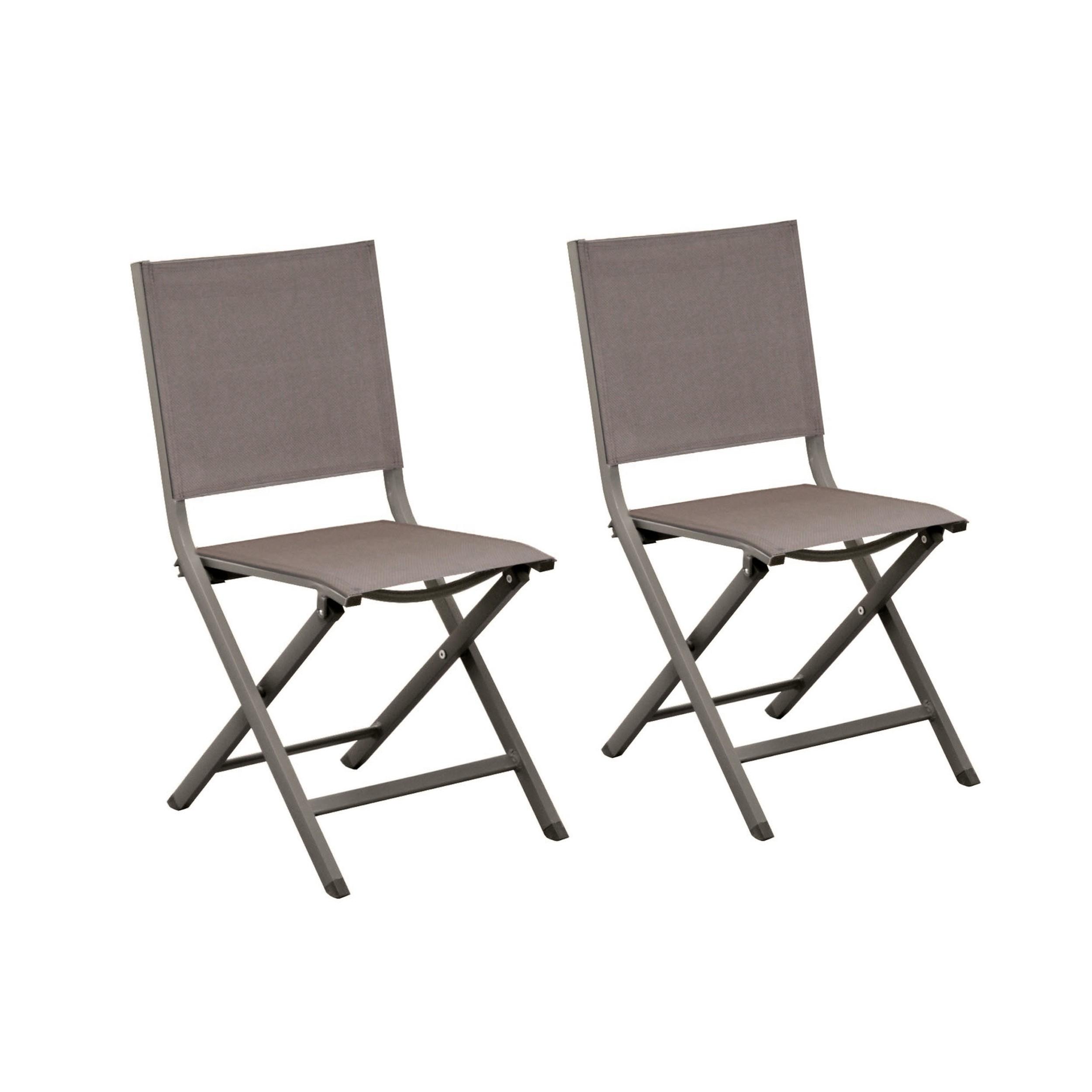 achat chaise de jardin gris fonce lot de 2