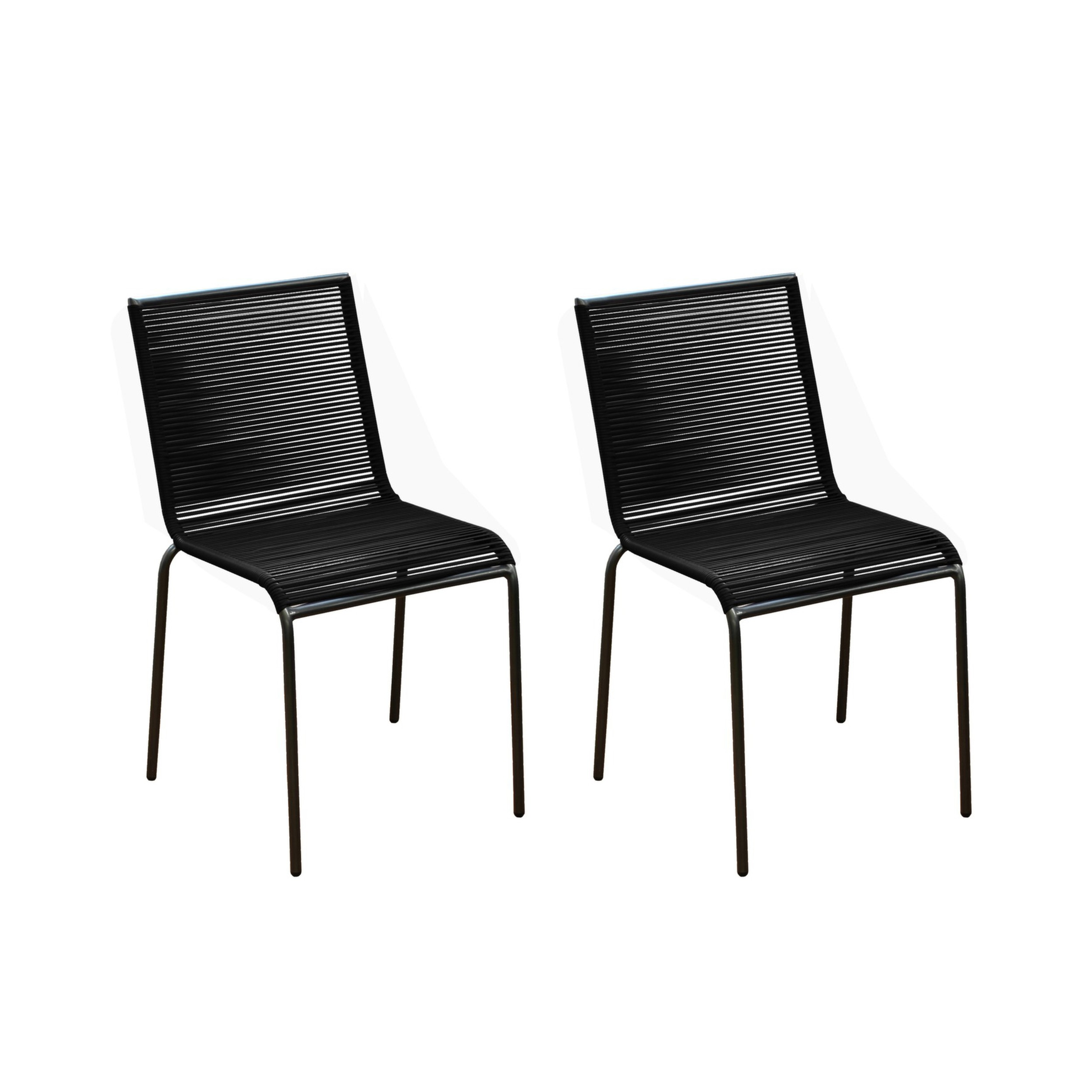 chaise de jardin chacabuco noire lot de2 commandez nos chaises de jardin chacabuco noires. Black Bedroom Furniture Sets. Home Design Ideas