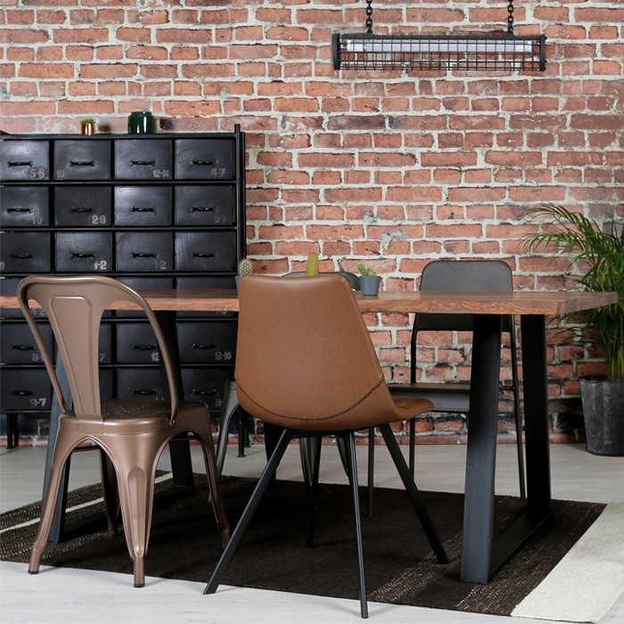 achat chaise indus en cuivre design