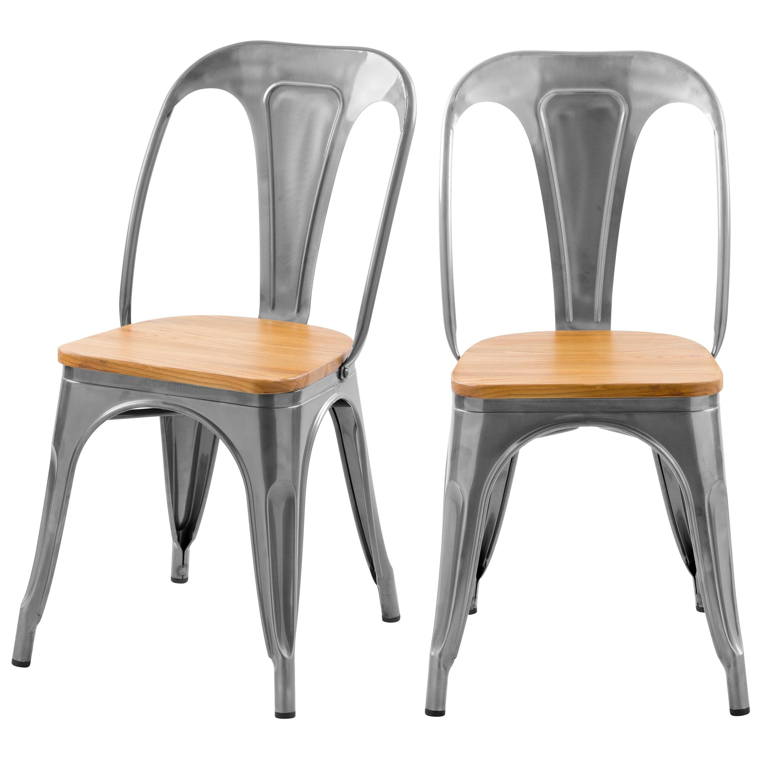 achat chaise industrielle en metal