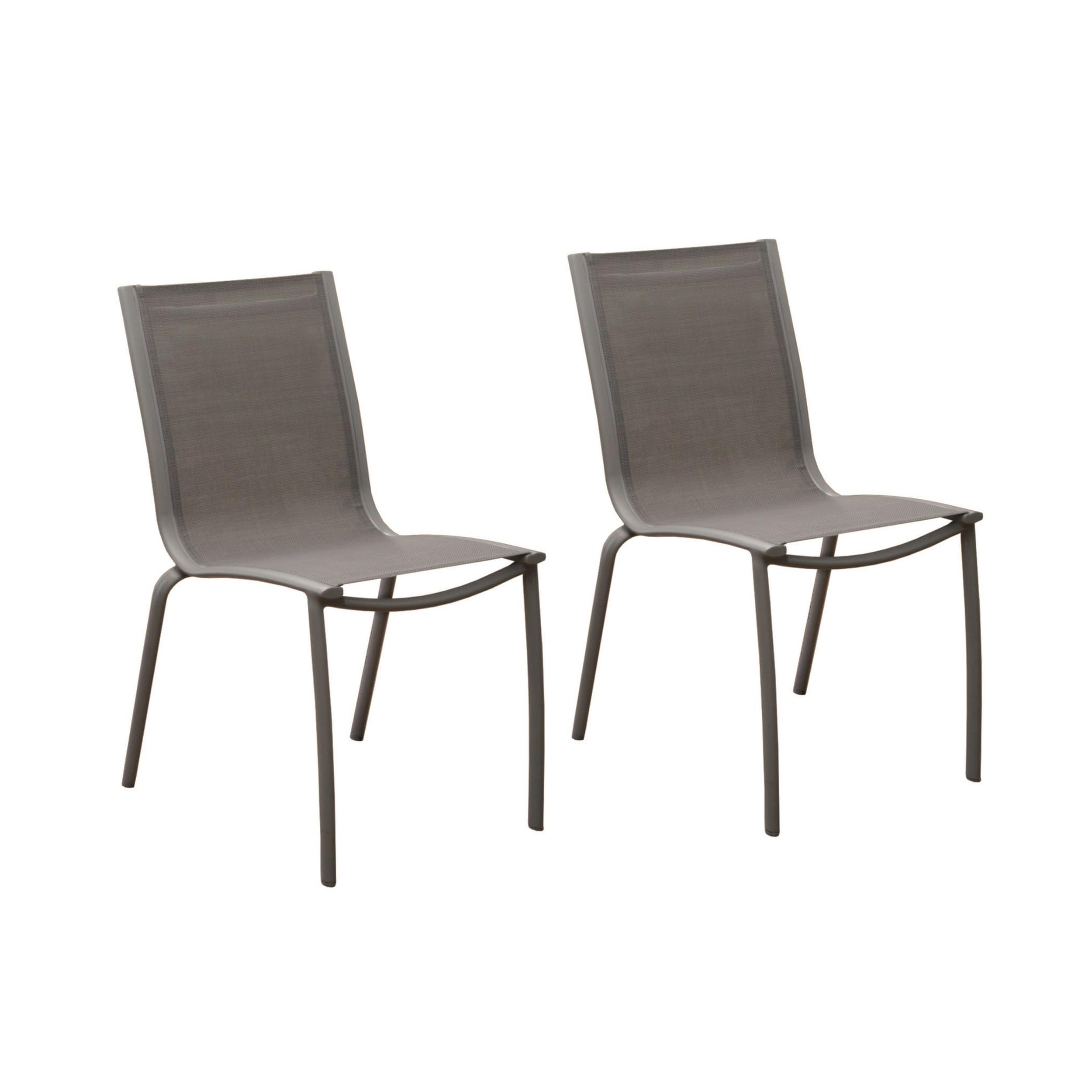 chaise de jardin santa rosa taupe lot de2 commandez nos chaises de jardin santa rosa taupe. Black Bedroom Furniture Sets. Home Design Ideas