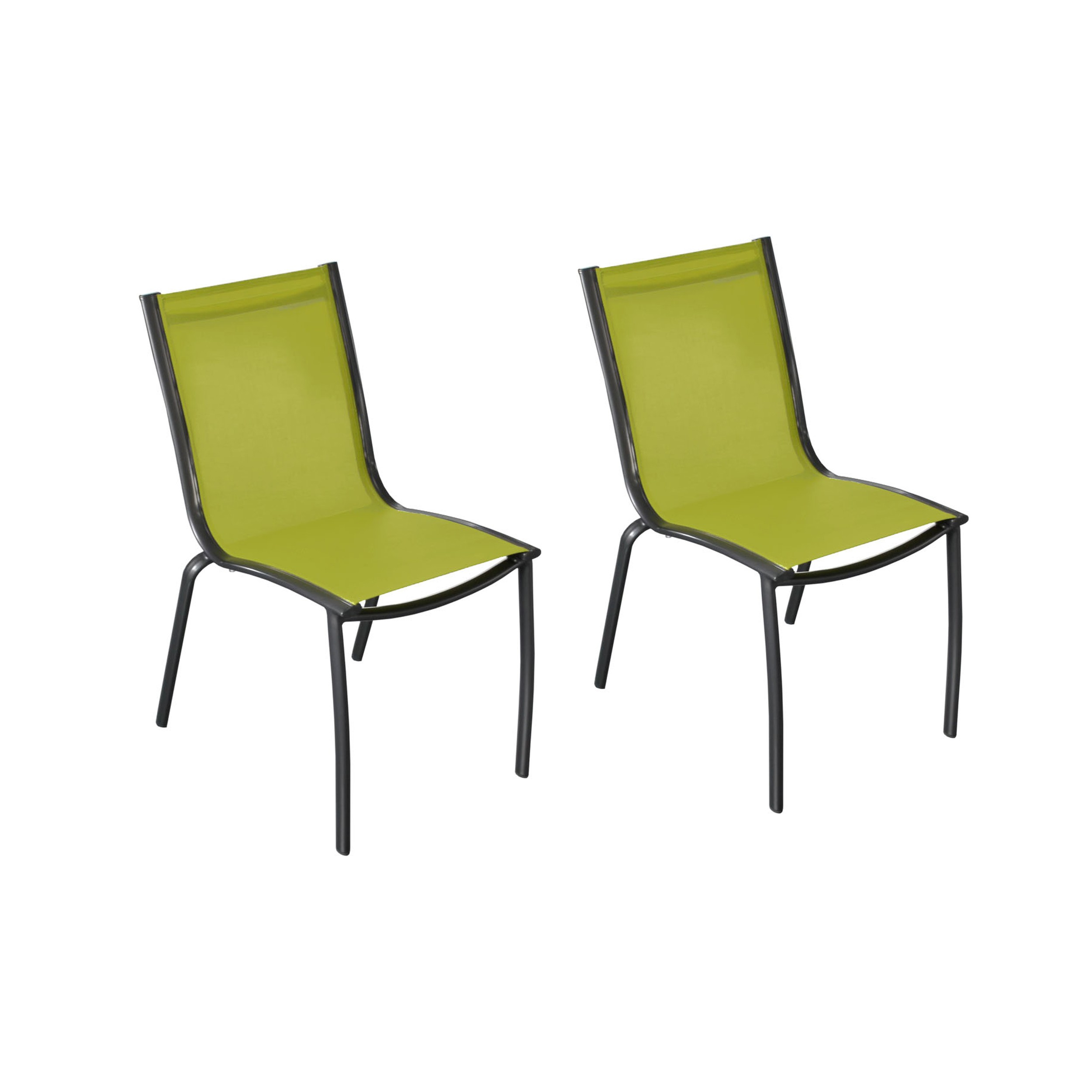 chaise de jardin santa rosa vert anis lot de2 choisissez nos chaises de jardin santa rosa. Black Bedroom Furniture Sets. Home Design Ideas
