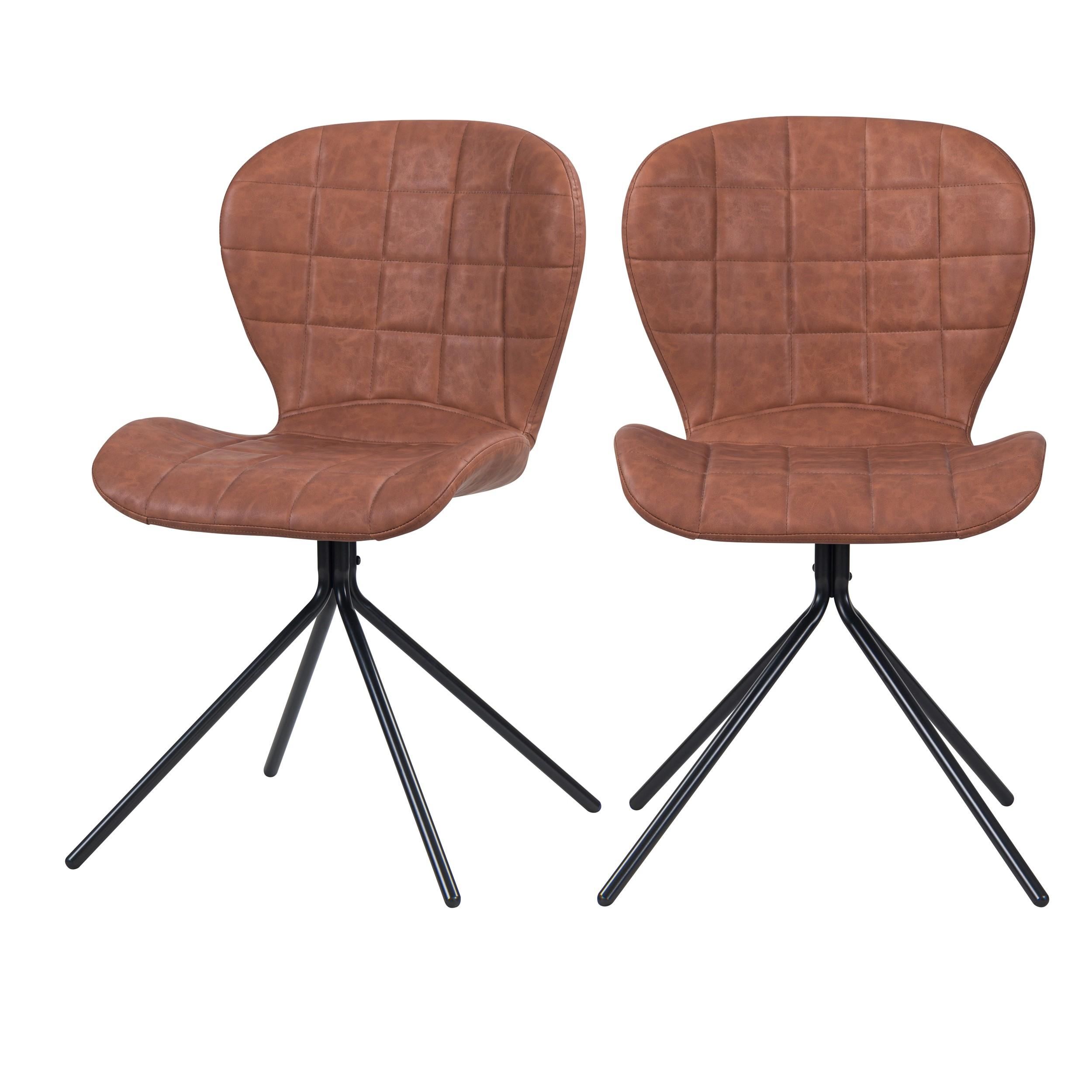 achat chaise lot de 2 marron