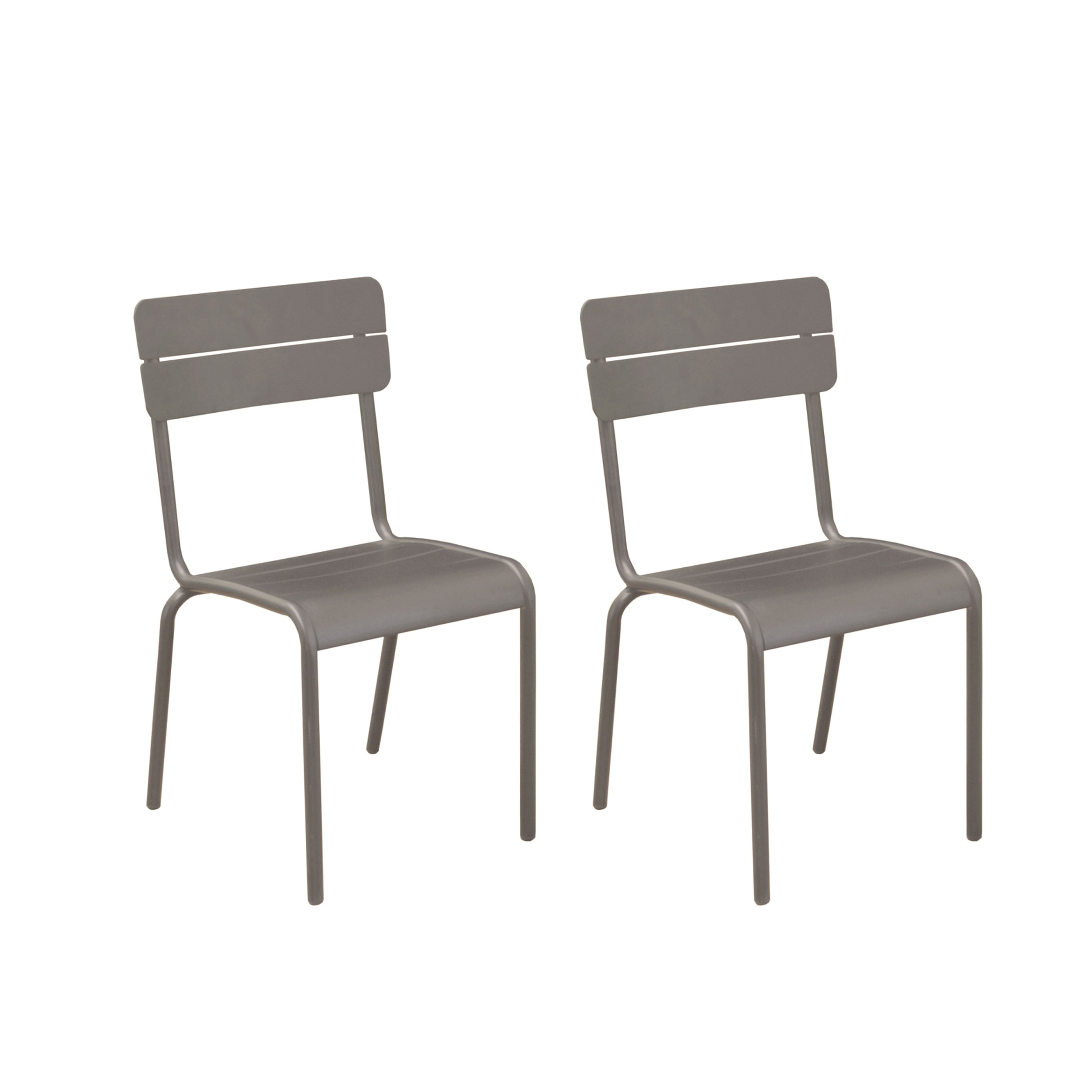 chaise de jardin casilda taupe lot de 2 commandez nos lots de 2 chaises de jardin casilda. Black Bedroom Furniture Sets. Home Design Ideas