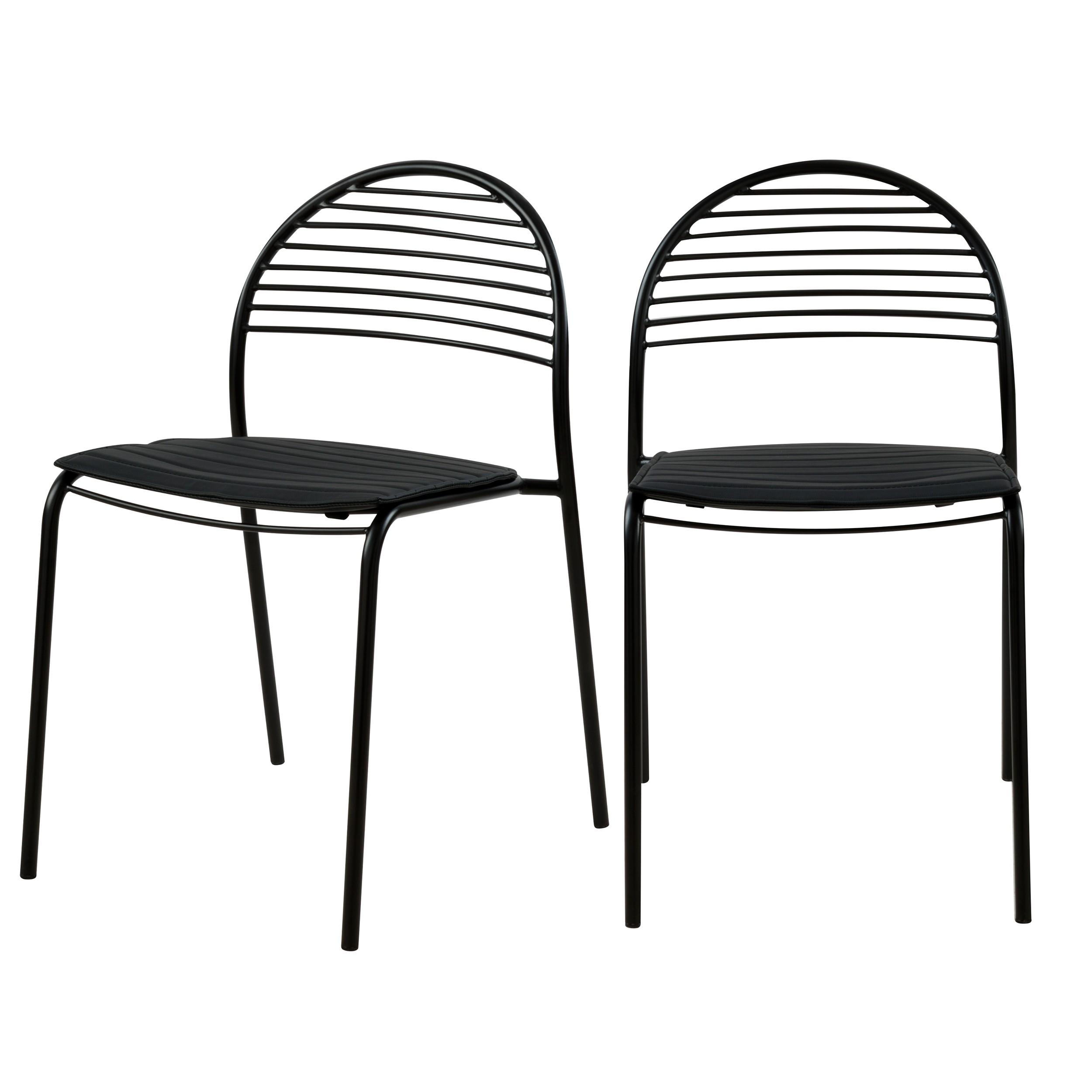 achat chaise noire en metal