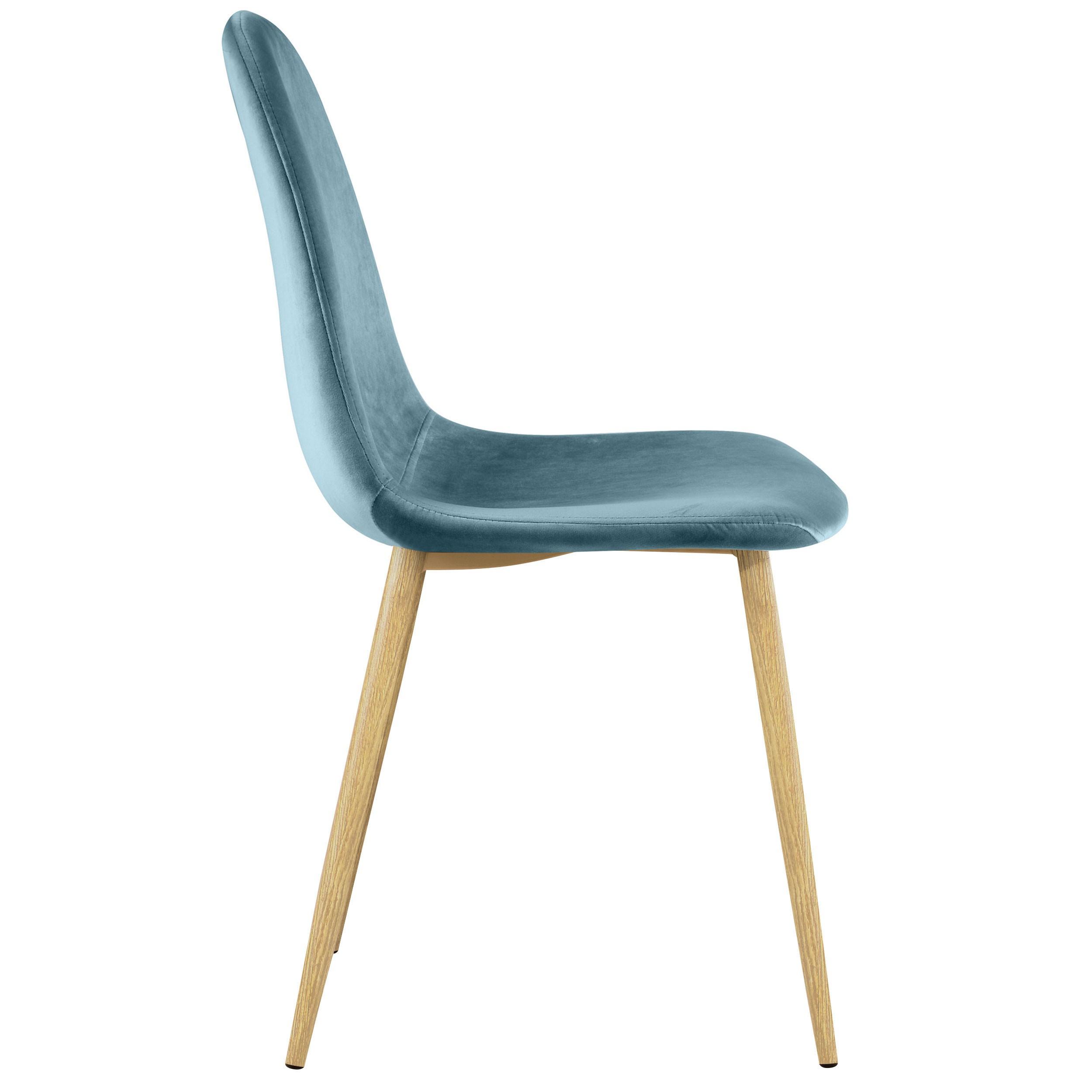 chaise fredrik en velours vert lot de 2 commandez les. Black Bedroom Furniture Sets. Home Design Ideas