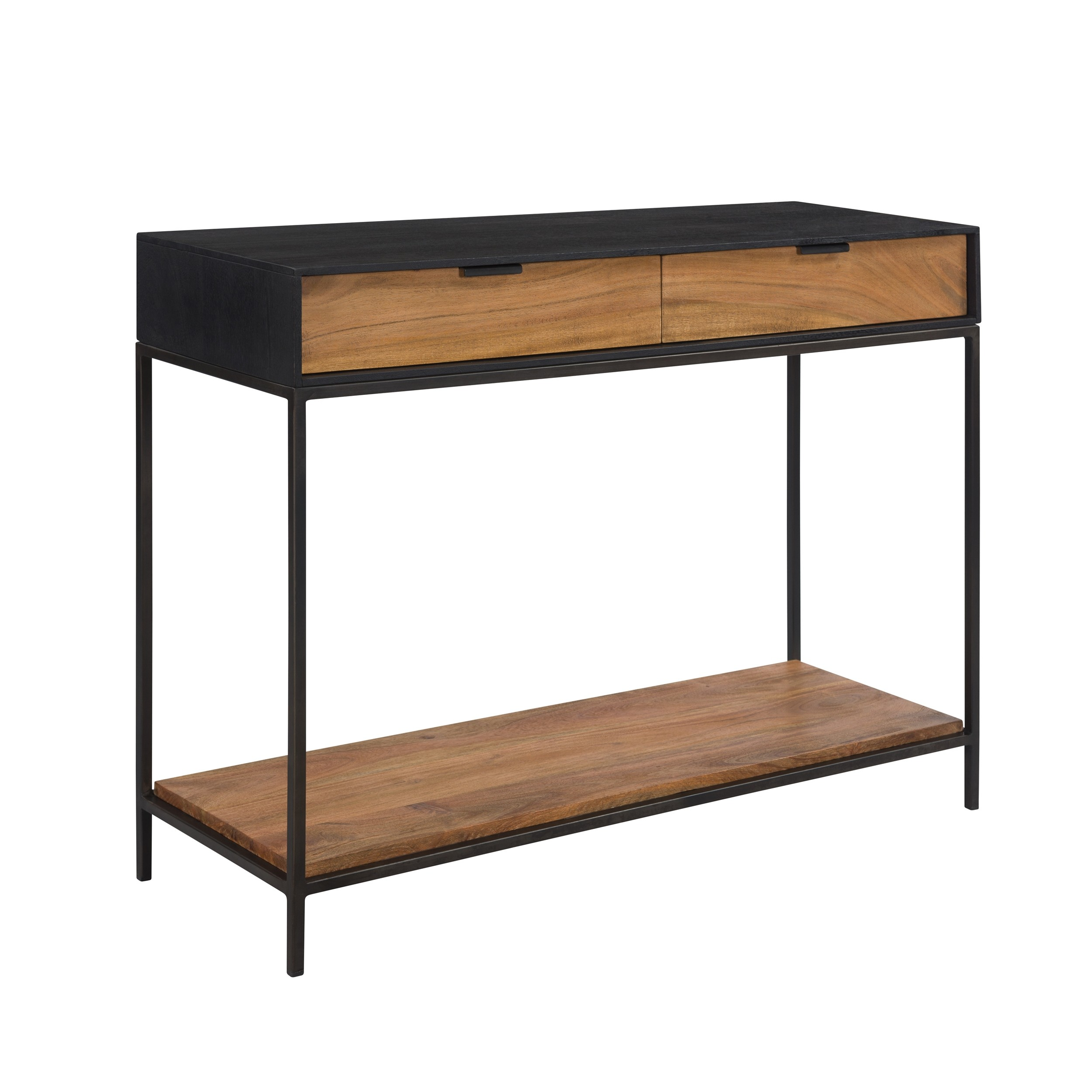 achat console en bois et metal