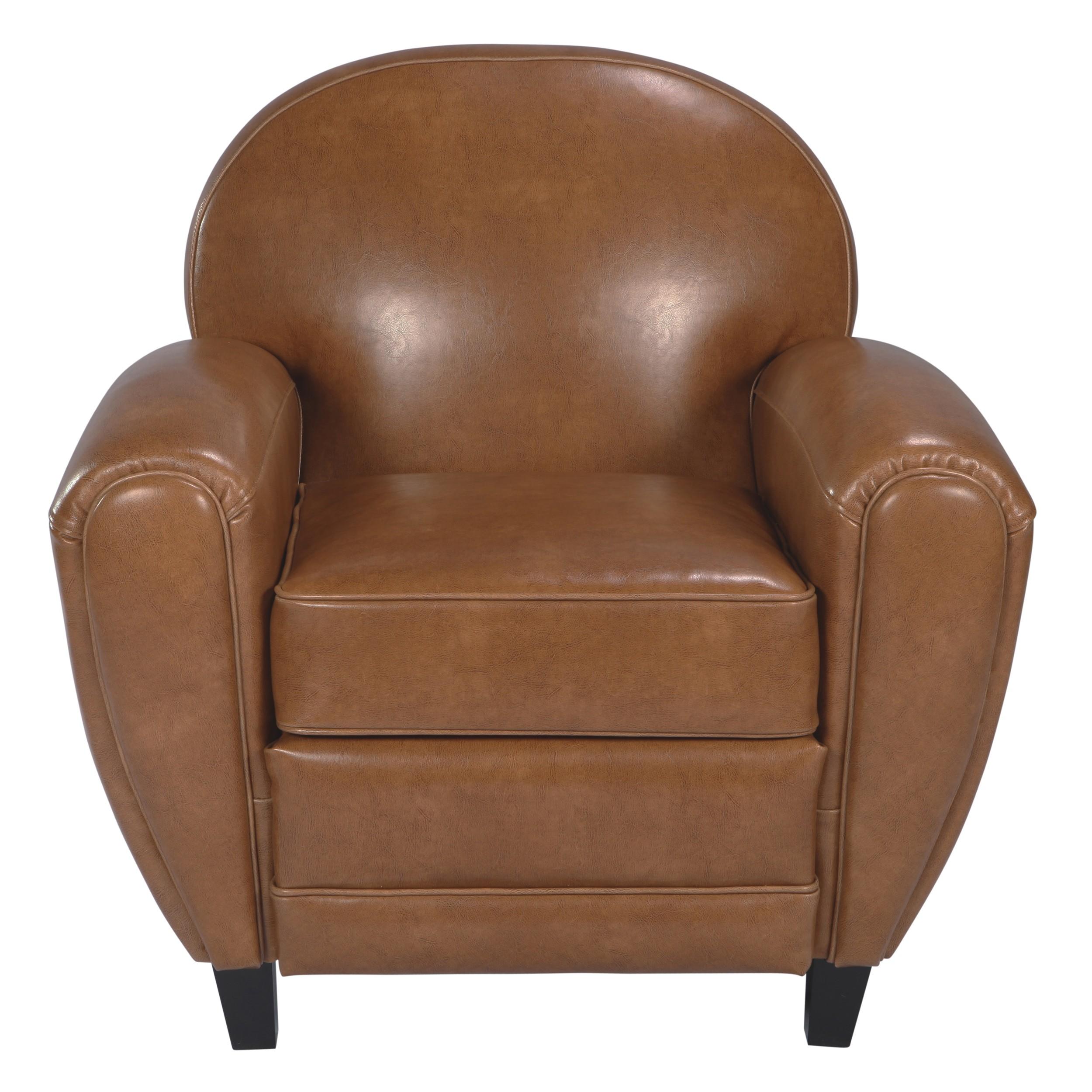 acheter fauteuil club camel beige