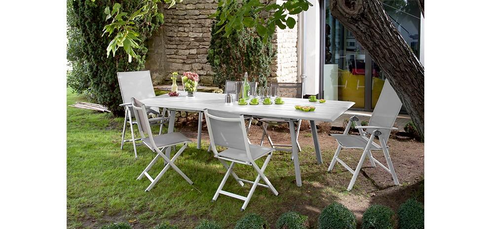 table de jardin extensible 240 cm tampa blanche achetez nos tables de jardin extensibles 240. Black Bedroom Furniture Sets. Home Design Ideas