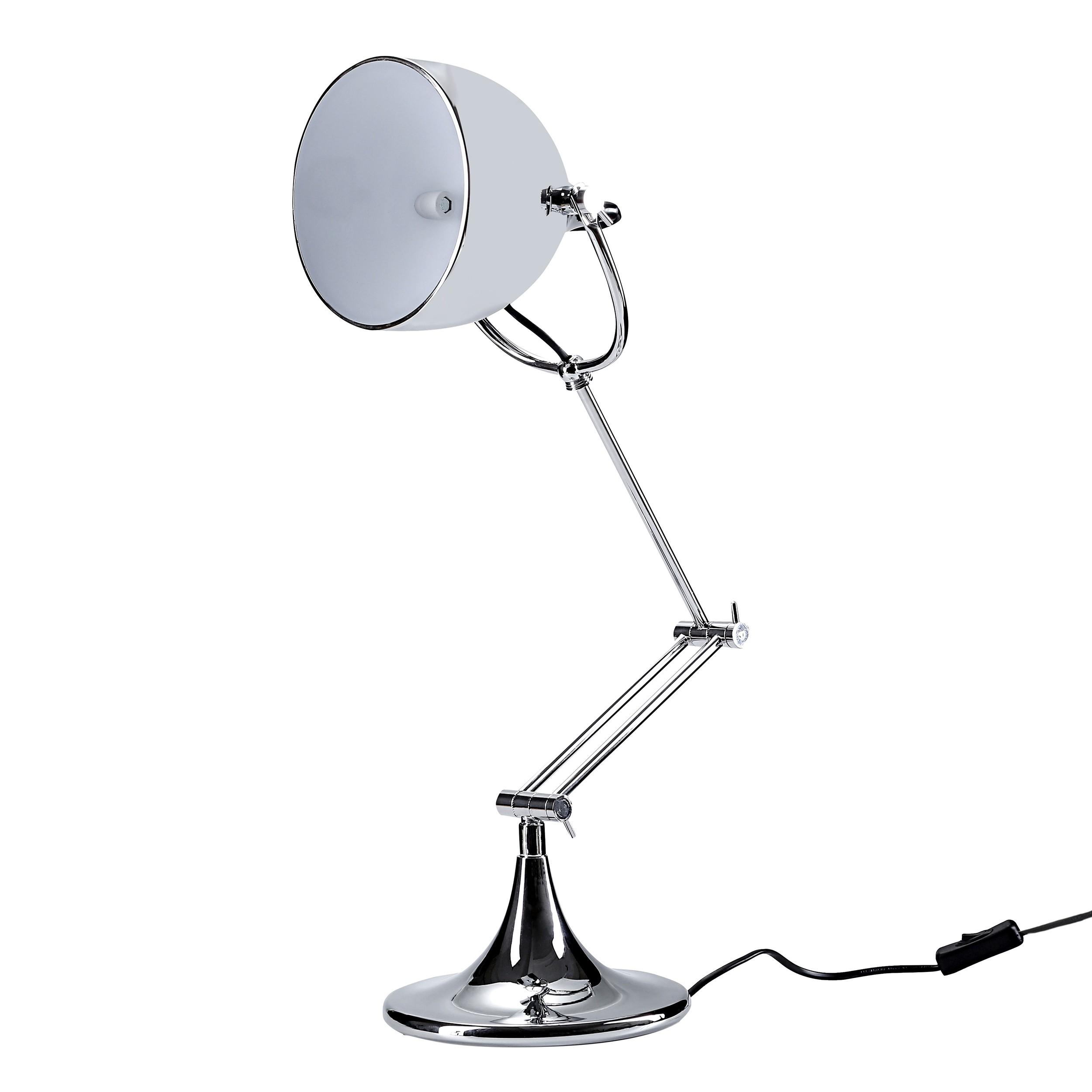 achat lampe de bureau chrome