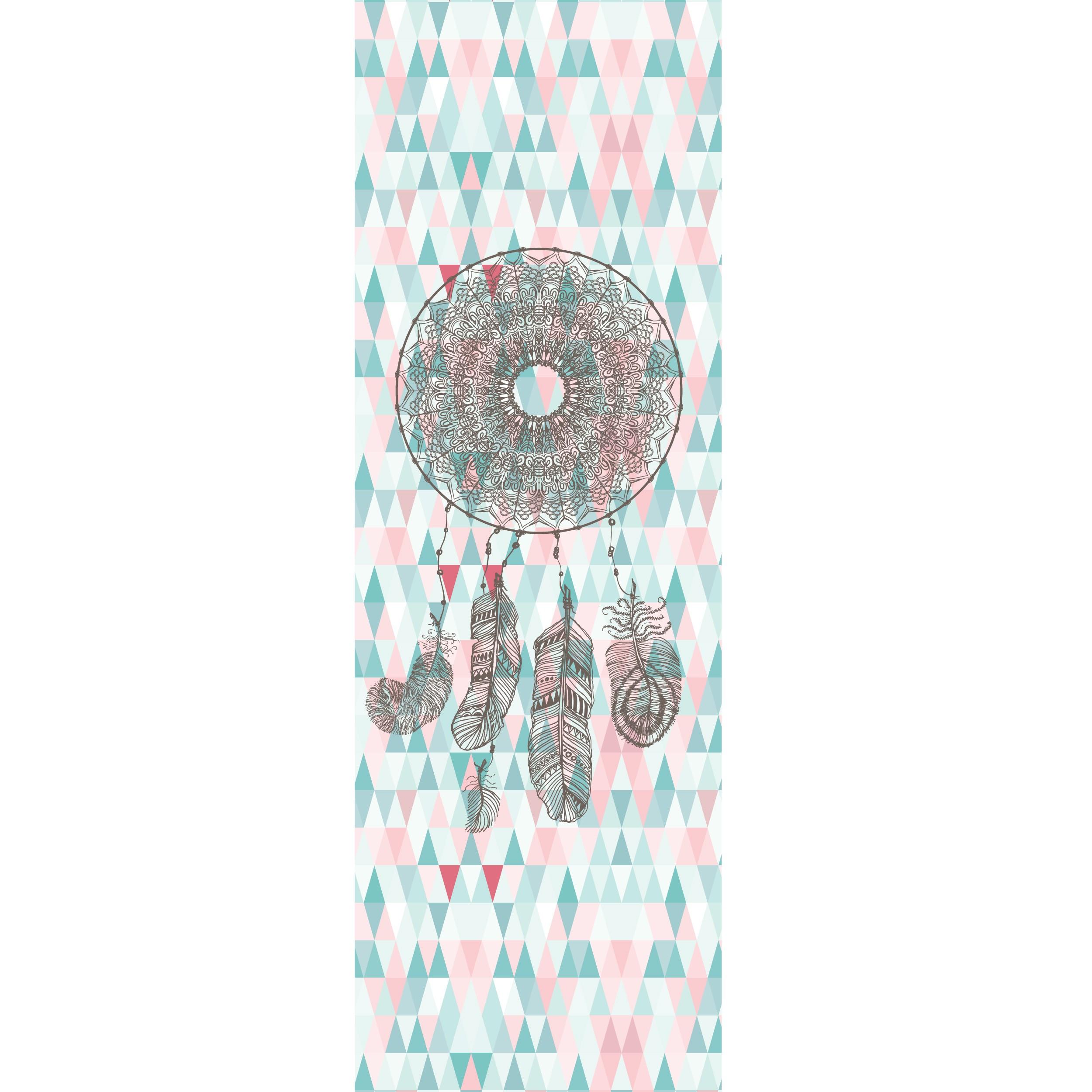achat le motifs indien rose bleu