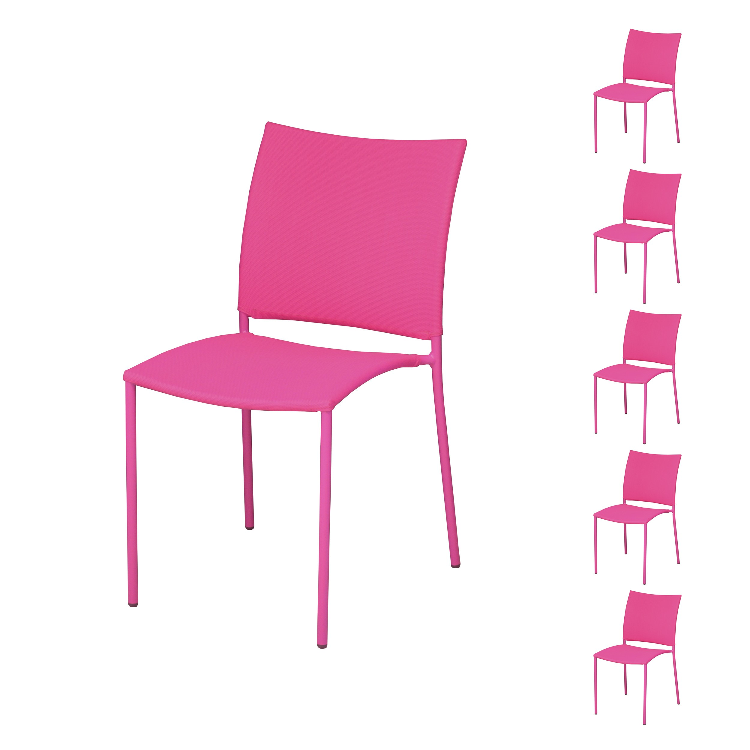Chaise De Jardin Rio Cuarto Framboise Lot De 6