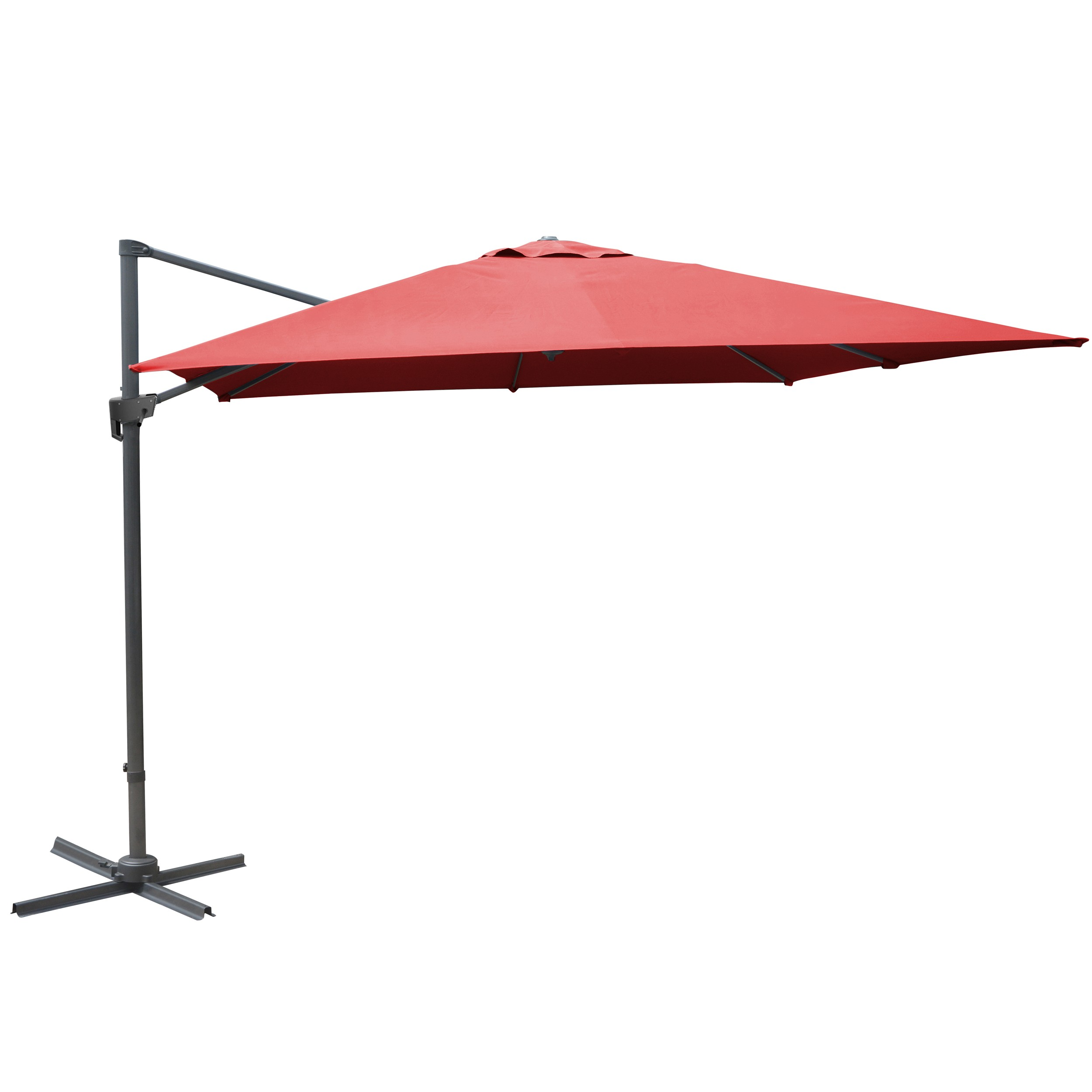achat parasol rouge inclinable toile
