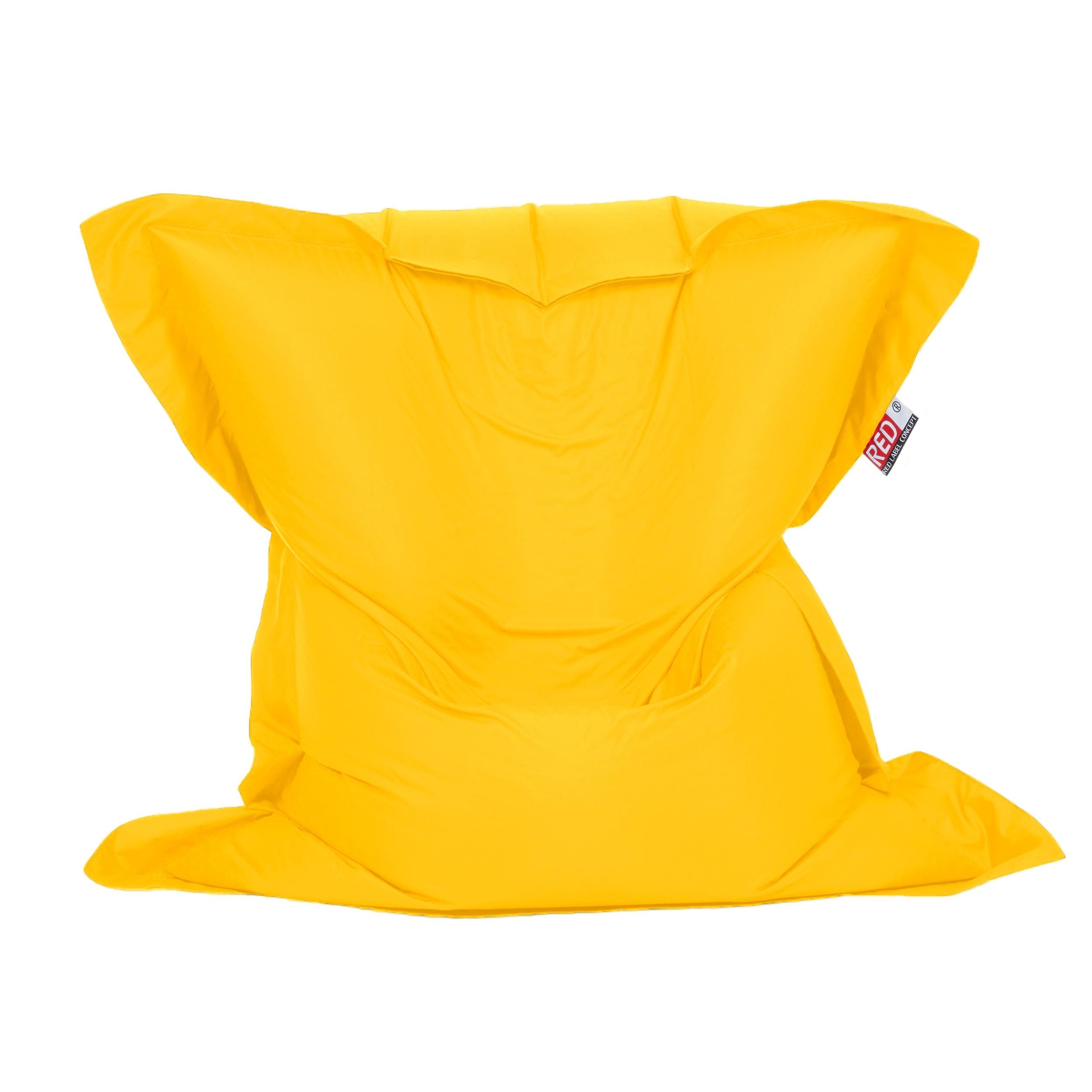 achat pouf coussin jaune interieur exterieur