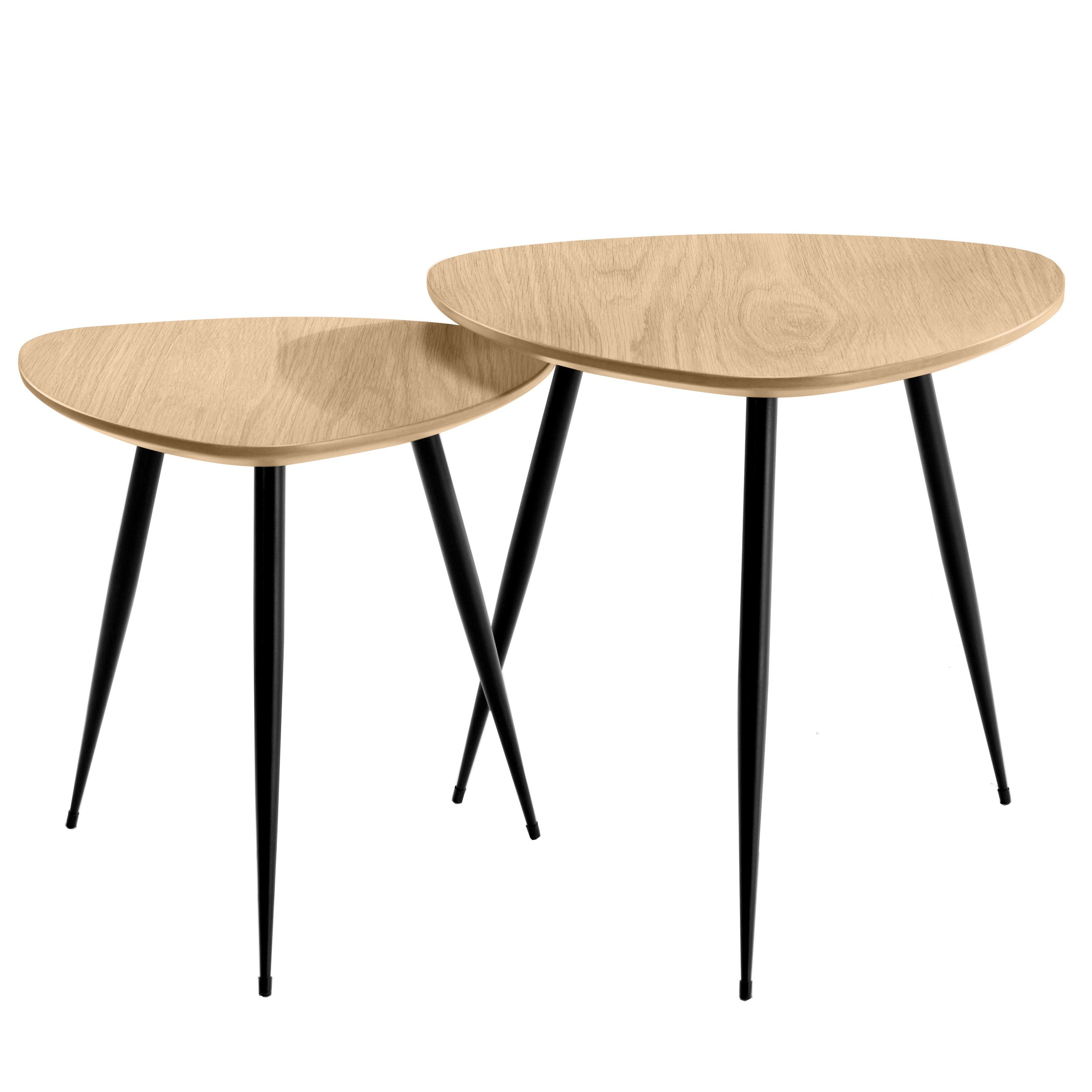 Tables Basses Scandinaves En Bois Clair Quercus Lot De 2