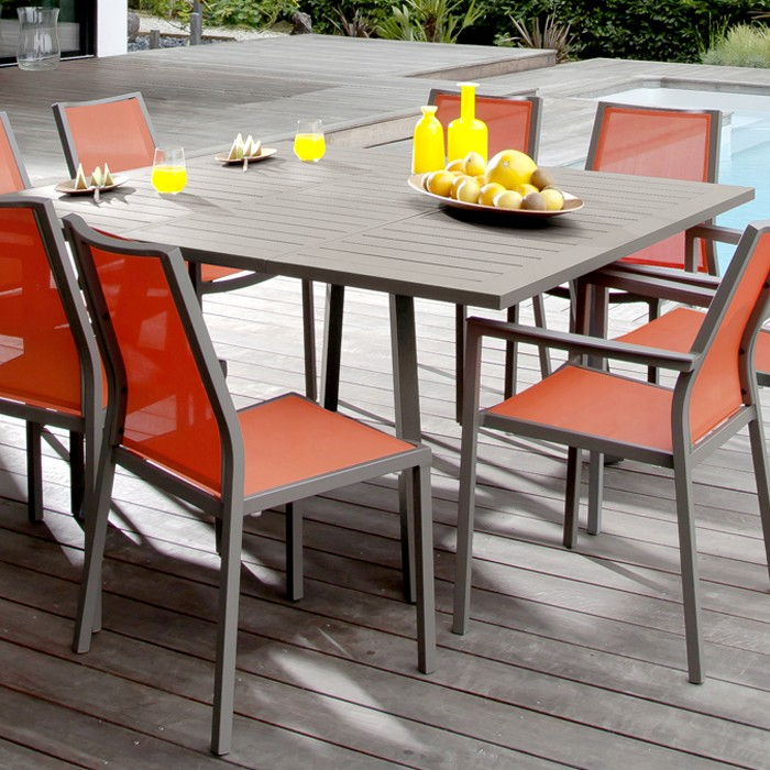 Table de jardin Barcelona extensible café 100/145cm