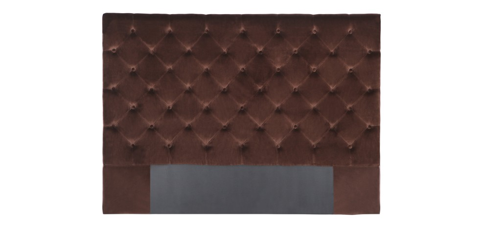 t te de lit marron en velours d couvrez nos t tes de lit en velours rdvd co. Black Bedroom Furniture Sets. Home Design Ideas