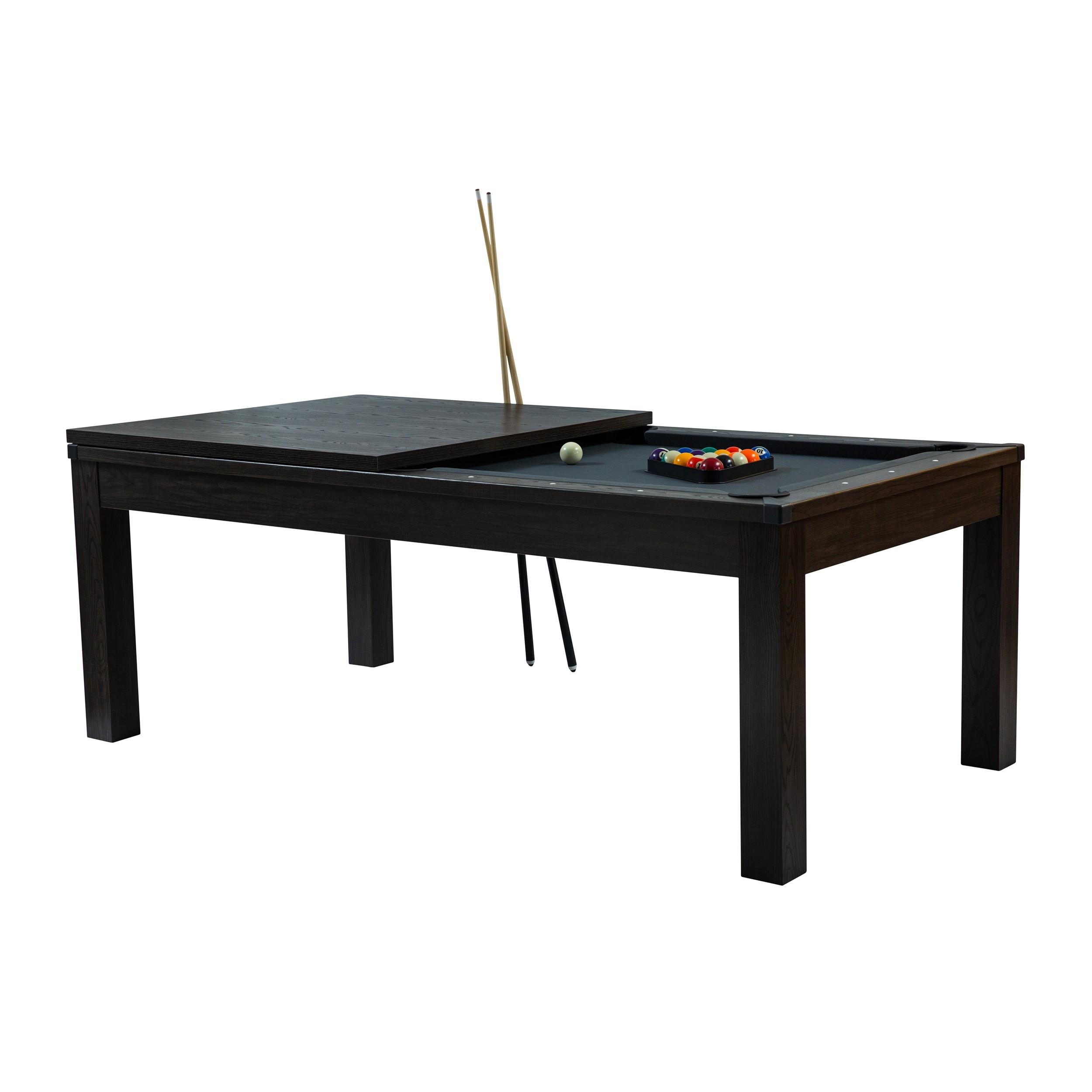 acheter billard table tapis gris bois fonce